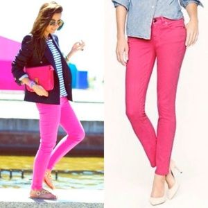 J. Crew Hot Pink Ankle Toothpick Jeans